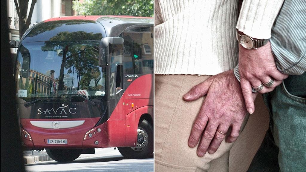 Sextrakasserade kvinna på buss - blir först att fällas
