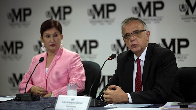 Thelma Aldana och Ivan Velazquez