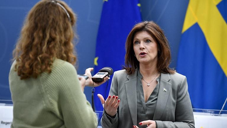 Ekots reporter intervjuar Eva Nordmark.