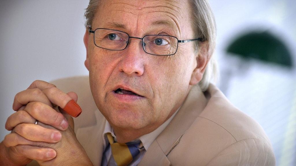 Ekonomiprofessor Hubert Fromlet som arbetar för Tysk-svenska handelskammaren.