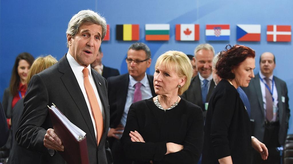 USA:s utrikesminister John Kerry och Sveriges utrikesminister Margot Wallström