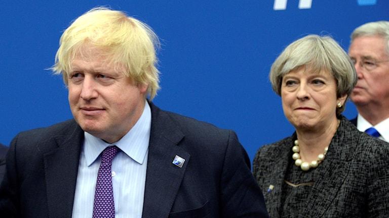 Boris Johnson tillsammans med premiärminister Theresa May.