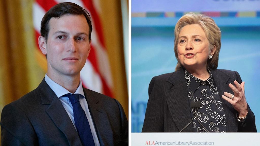 Jared Kushner och Hillary Clinton