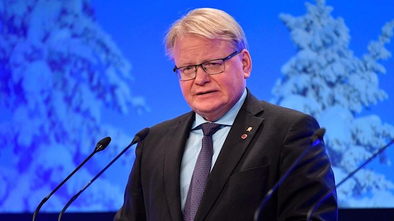 Sveriges försvarsminister Peter Hultqvist