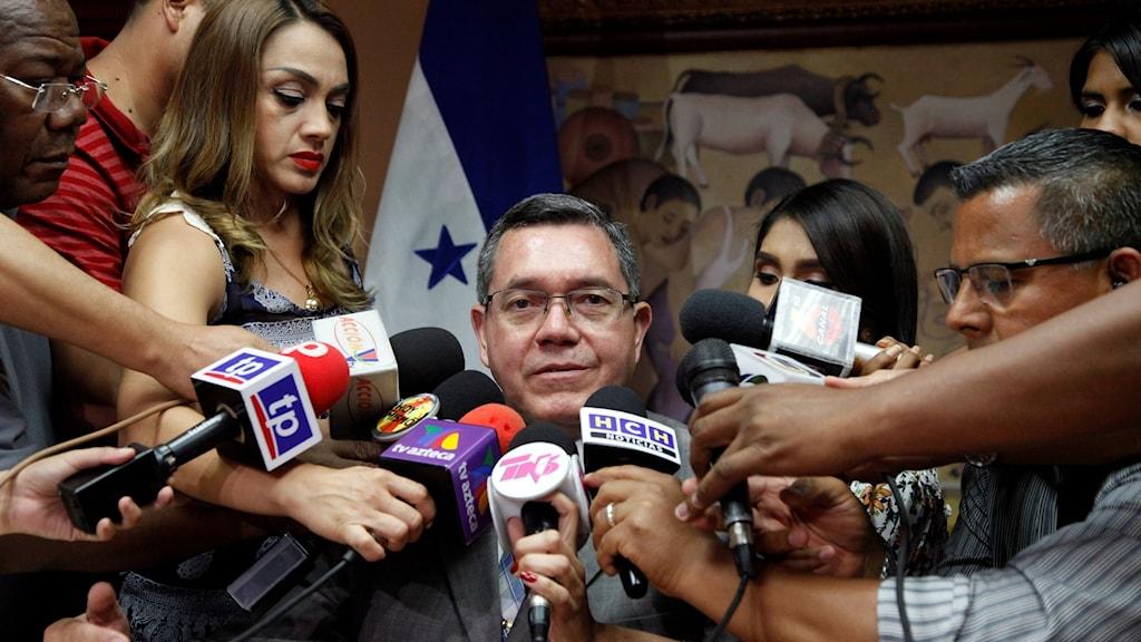 Honduras, presskonferens