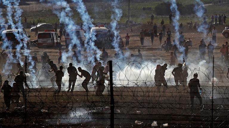 Protester i Gaza