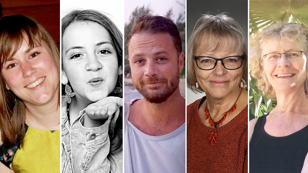 Maïlys Dereymaeker, Ebba Åkerlund, Chris Bevington, Marie Kide och Lena Wahlberg.