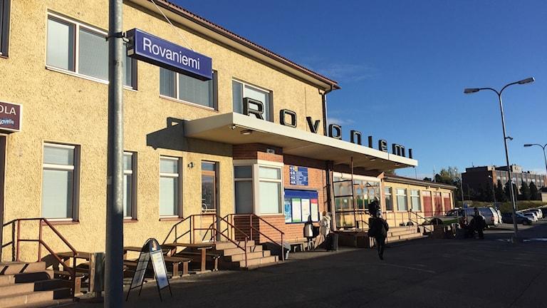 Rovaniemi järnvägsstation.