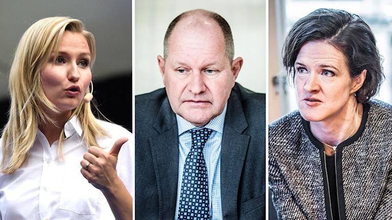 Ebba Busch Thor, Dan Eliasson, and Anna Kinberg Batra