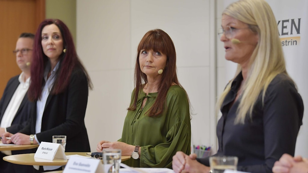 Industrifacken på presskonferens om industrins nya löneavtal