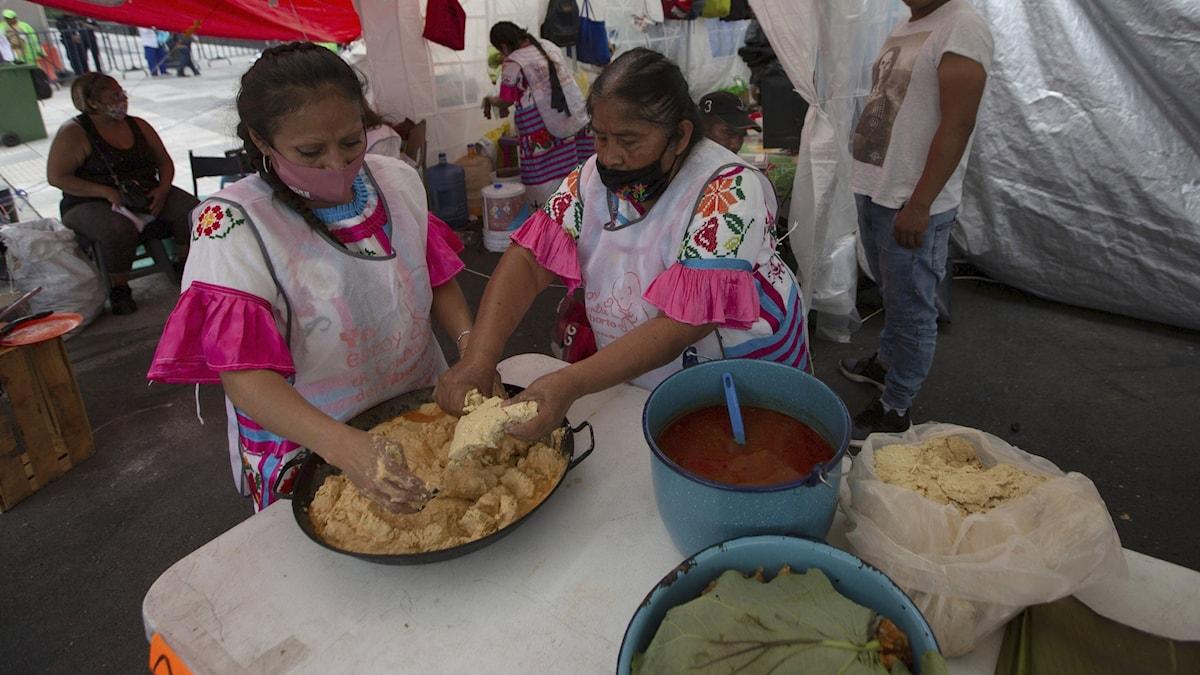 Gatuförsäljning i Mexico city, Mexiko.