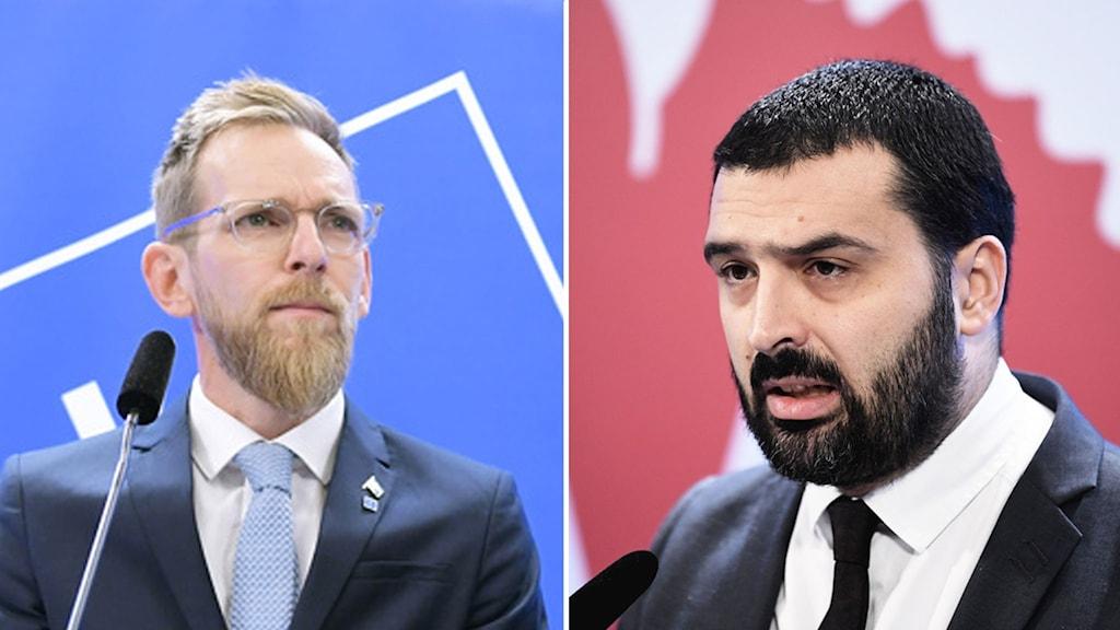 Jakob Forssmed (KD) och Ali Esbati (V).