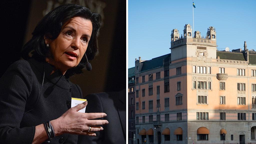 Advokatsamfundets Anne Remberg, Rosenbad. Foto: Jonas Ekströmer/Fredrik Sandberg/TT. Montage: Sveriges Radio.