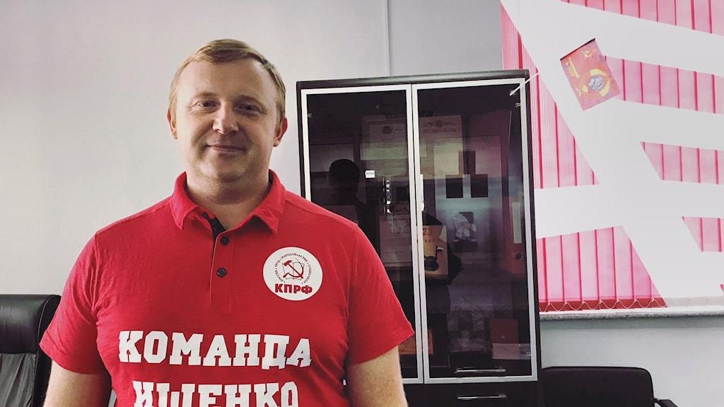 Andrej Istjenko, kommunisternas kandidat i Vladivostok.