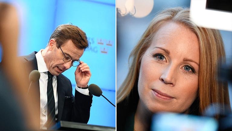 Annie Lööf och Ulf Kristersson.