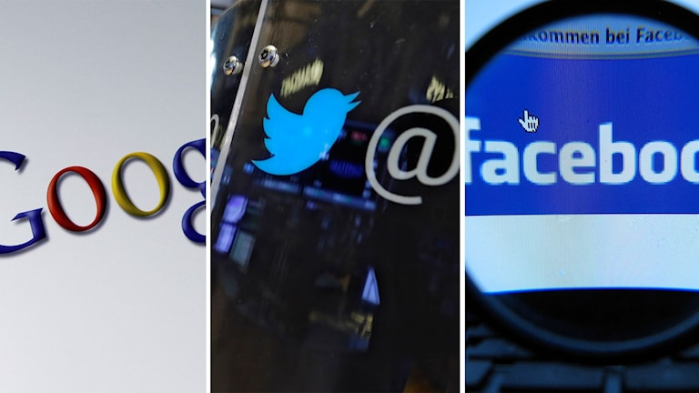 Google, Twitter, Facebook