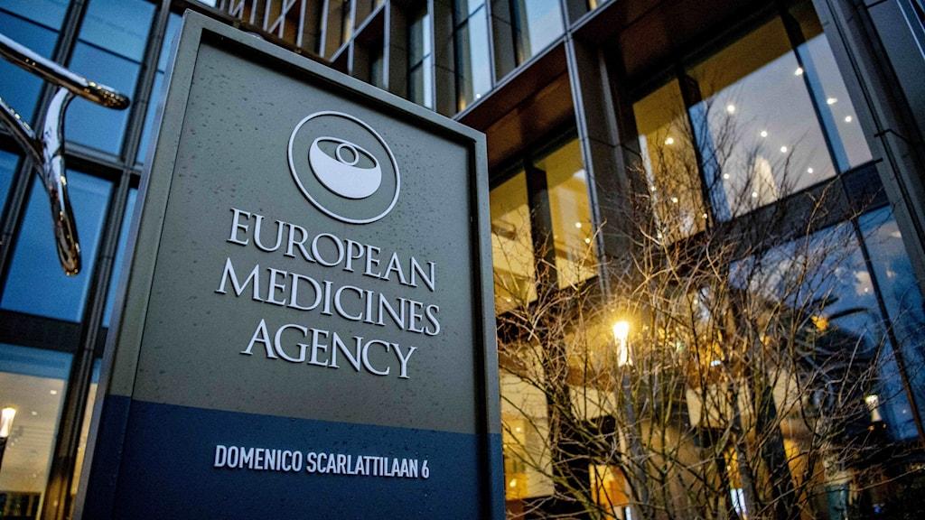 European medicines agencys, Europeiska läkemedelsmyndighetens, huvudkontor i Amsterdam.