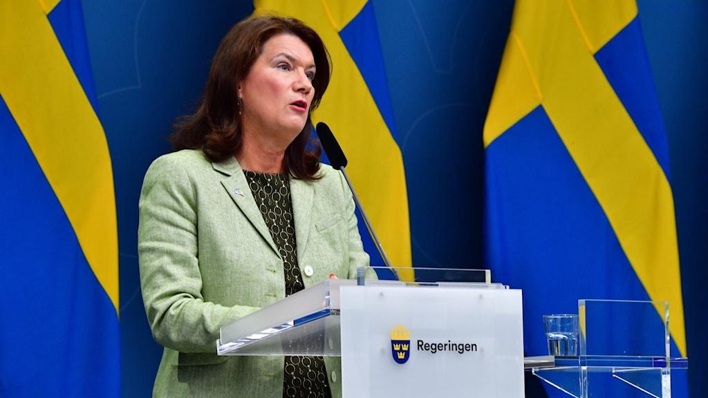 Pressträff med utrikesminister Ann Linde, med anledning av läget i Afghanistan.