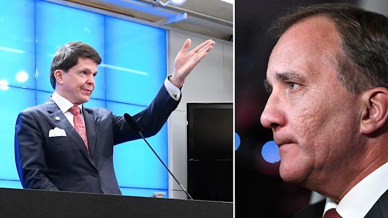 Talmannen Andreas Norlén nominerar Stefan Löfven (S) som statsminister.