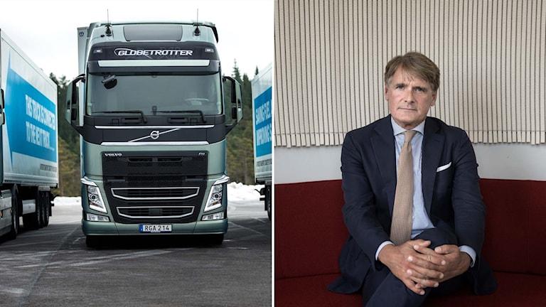 Lastbil från Volvo samt storägaren i Volvo AB Christer Gardell.