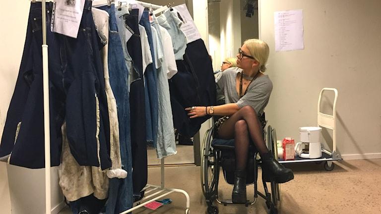 Louise Linderoth, modedesignstudent Textilhögskolan i Borås