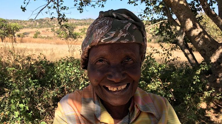 Helen Katandika, som kommer att rösta på Emmerson Mnangagwa och Zanu PF i valet på måndag.