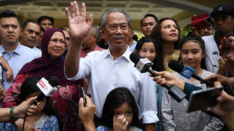 Malaysias blivande premiärminister Muhyiddin Yassin var inrikesminister i den koalition som styrde Malaysia fram tills i måndags då landet oväntat hamnade i en politisk kris.