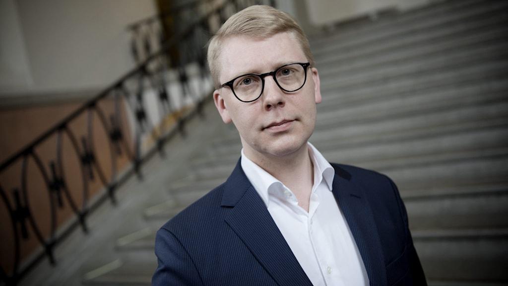 Kristoffer Tamsons, trafikregionråd (M), tillhör kritikerna. Foto: Malin Hoelstad / SvD / TT.
