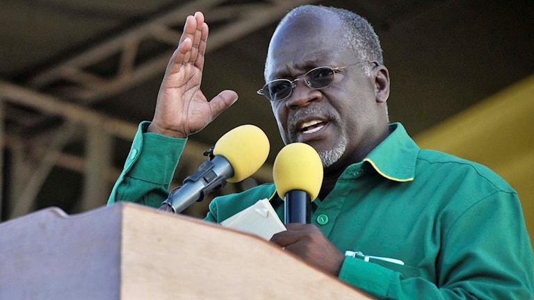 Tanzanias president John Pombe Magufuli.