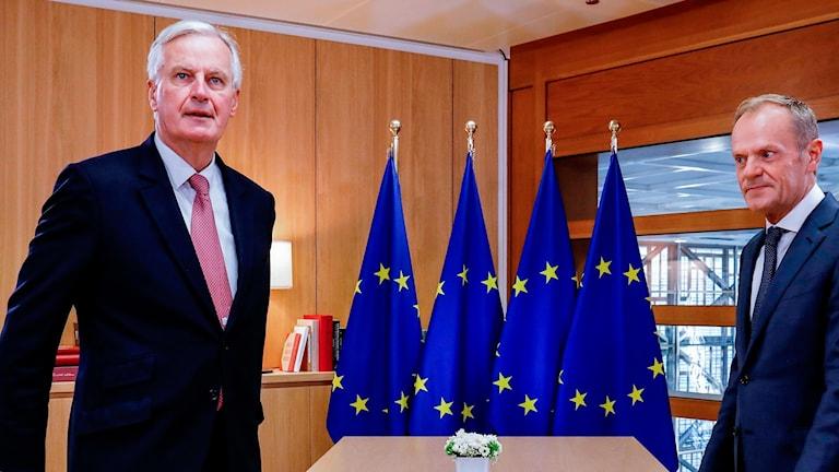 Michel Barnier och Donald Tusk