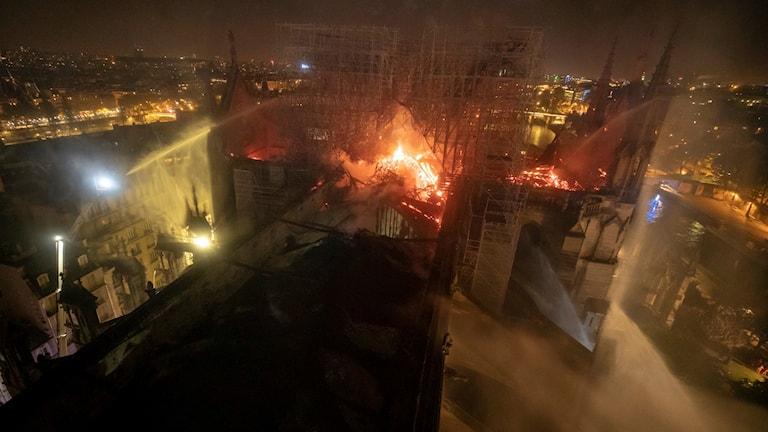 Notre-Dame brinner