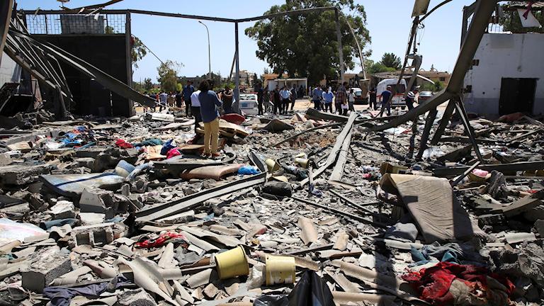 Attack mot läger i Libyen