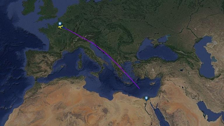 Flightradar24 Flight MS804