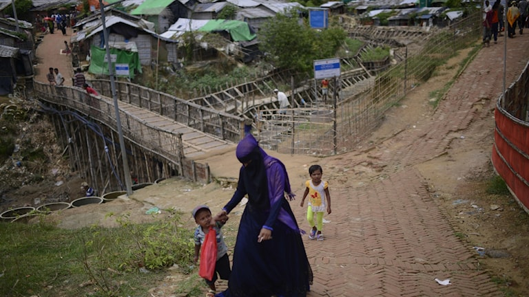 Nayapara Rohingya refugee camp in Cox's Bazar,