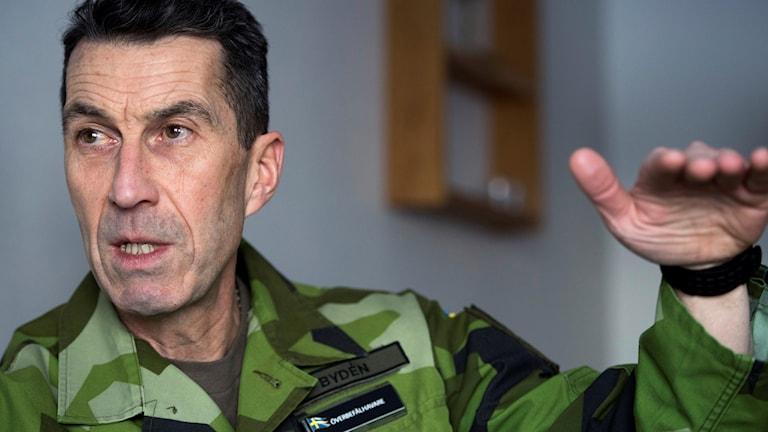 Överbefälhavare Micael Bydén på Folk och Försvars Rikskonferens på Högfjällshotellet i Sälen.
