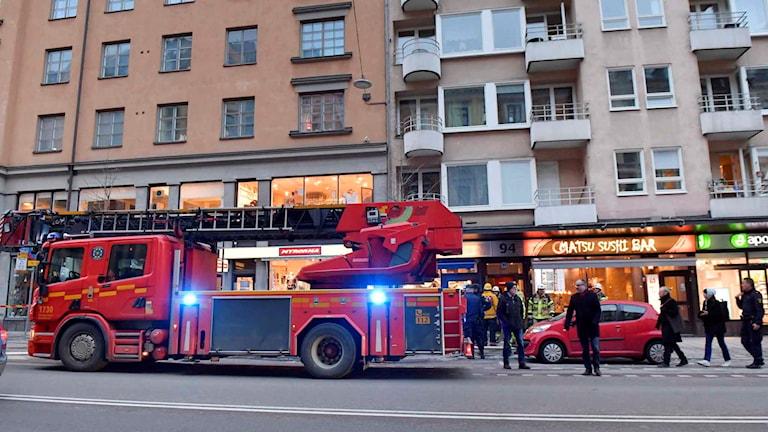 Lägenhetsbrand Hornsgatan
