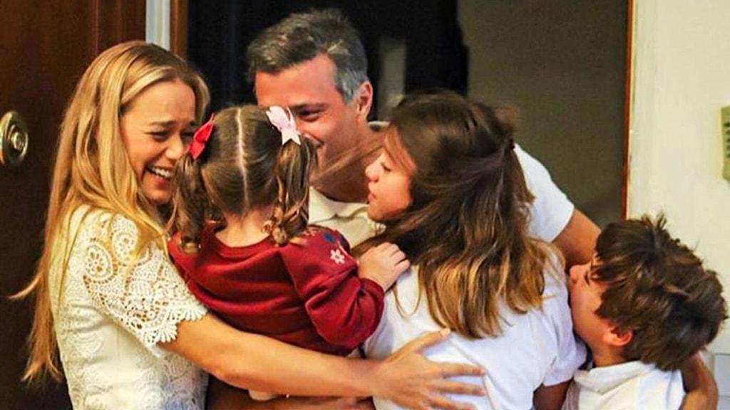 Leopoldo López med sin familj i Madrid