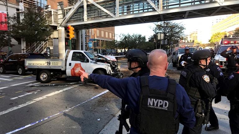 Polisinsats Manhattan.