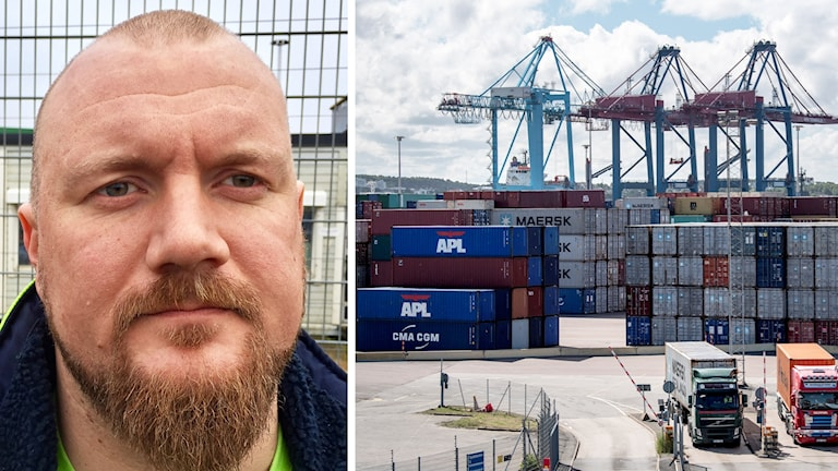Rekordtappet i containerterminalen i Göteborg är enbart i liten grad fackets fel, enligt Erik Helgeson från Hamnarbetareförbundets styrelse.