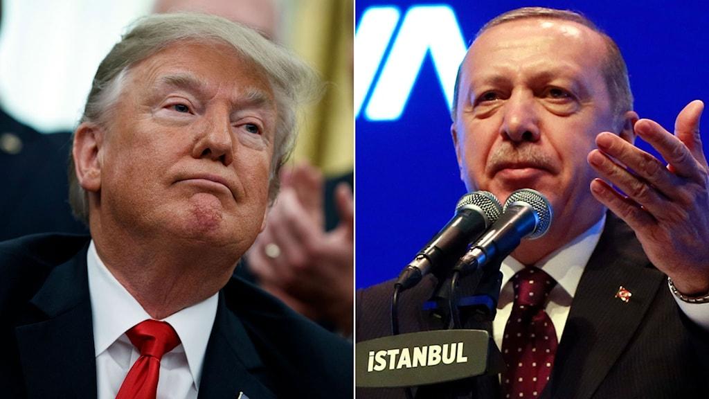 Donald Trump, till höger Recep Tayyip Erdoğan