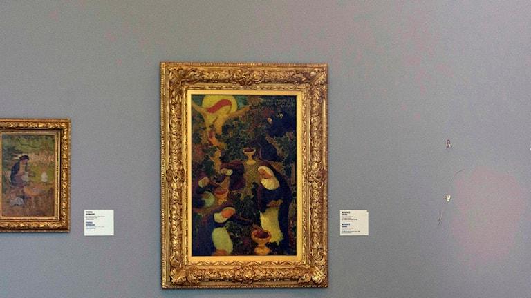 "Pablo Picassos ""Harlekins huvud""."
