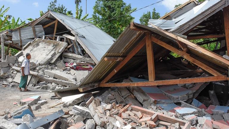 jordskalv, indonesien, Lombok
