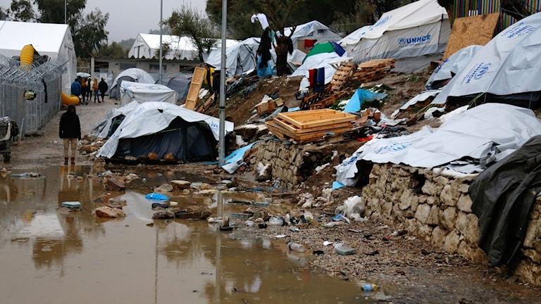 Flyktingläger på Lesbos