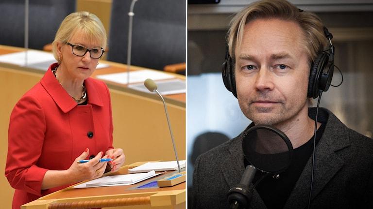 Margot Wallström och Fredrik Furtenbach i ett montage