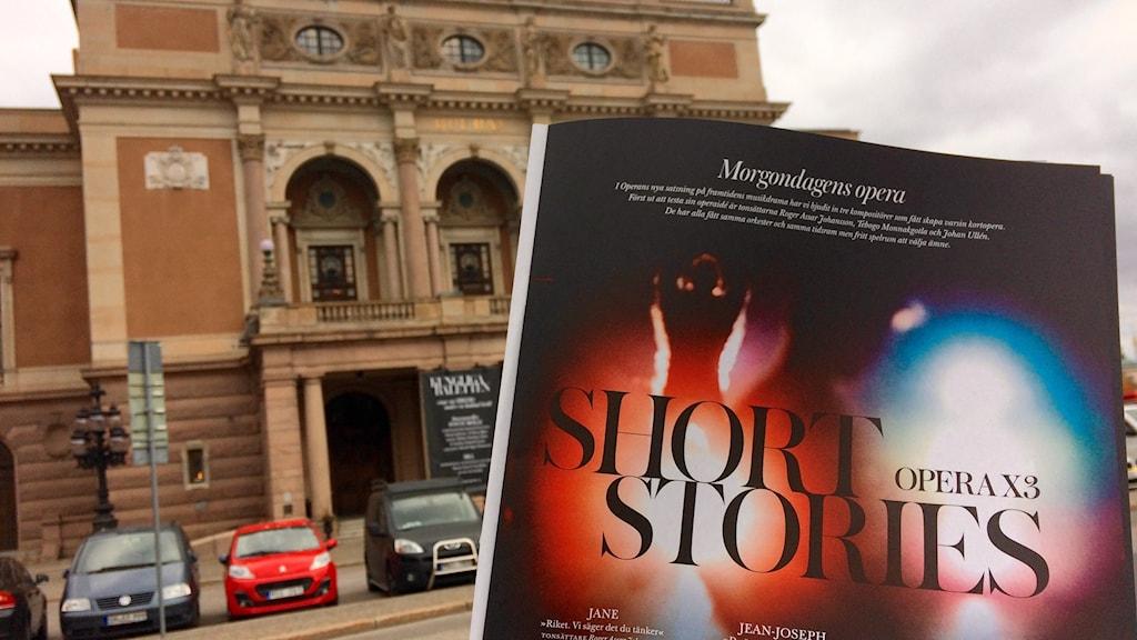 Bild på programbladsinformation om föreställningen.