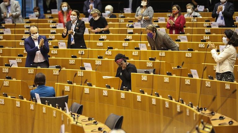Bild från EU parlamentet i Bryssel.