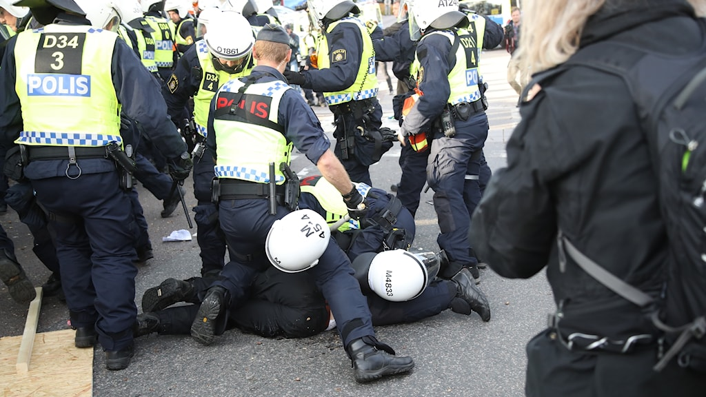 Arkivbild. Sammandrabbningar mellan polis och nynazister vid NMR:s demonstration i september.