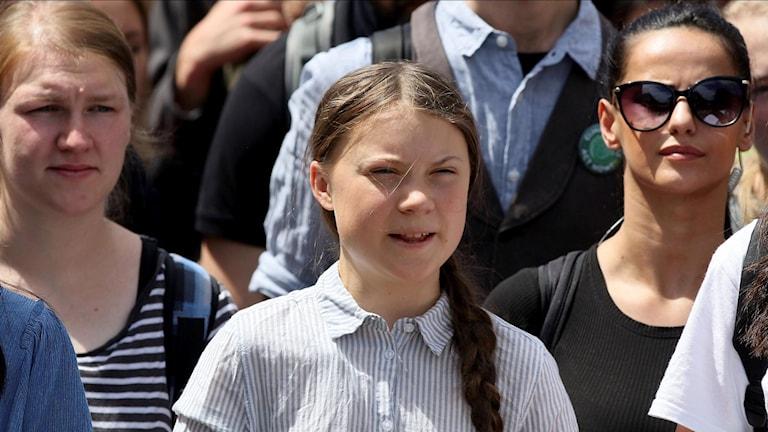 Greta Thunberg har under våren besökt flera europeiska städer. Här fångas hon på bild i Wien.