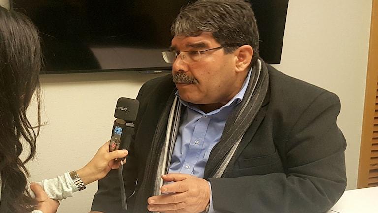 Salih Muslim, ordförande för den kurdiska partiet PYD i Syrien.