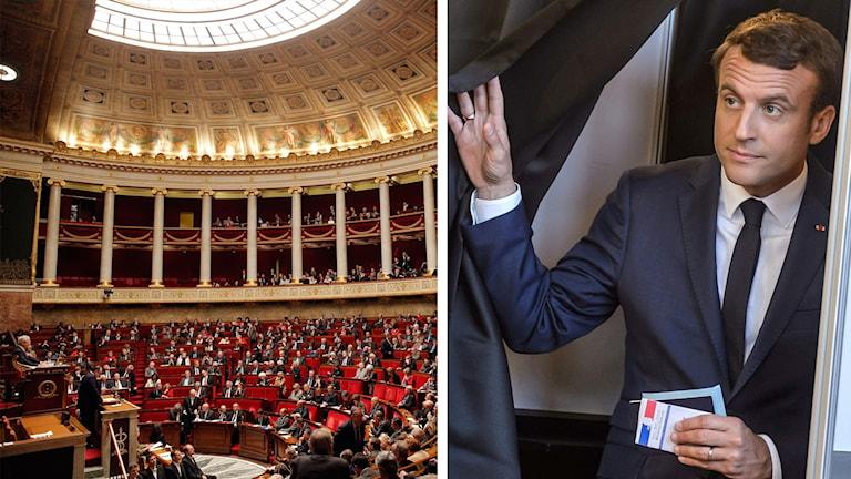 Emmanuel Macron går mot stor seger